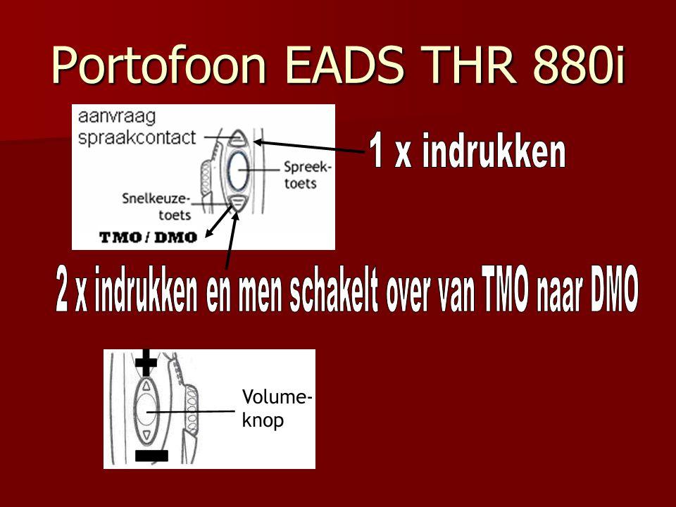 Noodoproepknop De oranjeknop is de noodoproep Activeer deze niet want dan is het c2000 netwerk voor een paar seconde niet te bereiken.