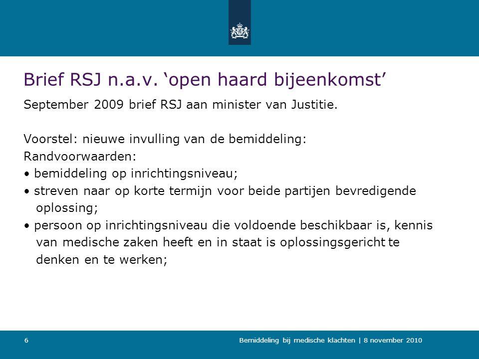 Bemiddeling bij medische klachten   8 november 2010 7 werkconferentie N.a.v.