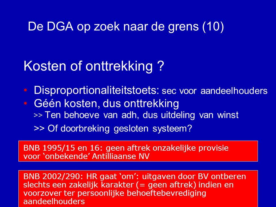 De DGA op zoek naar de grens (9) Gemengde uitgaven.