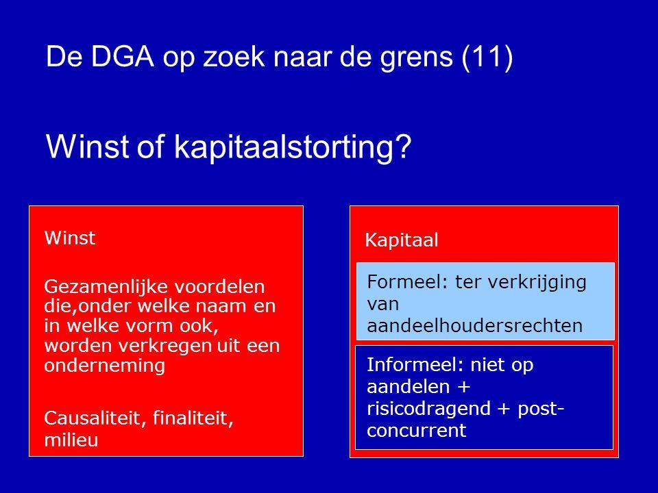 De DGA op zoek naar de grens (10) Kosten of onttrekking .