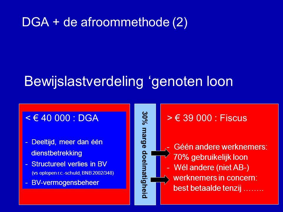 DGA + de afroommethode (1) Zelf je salaris vaststellen.