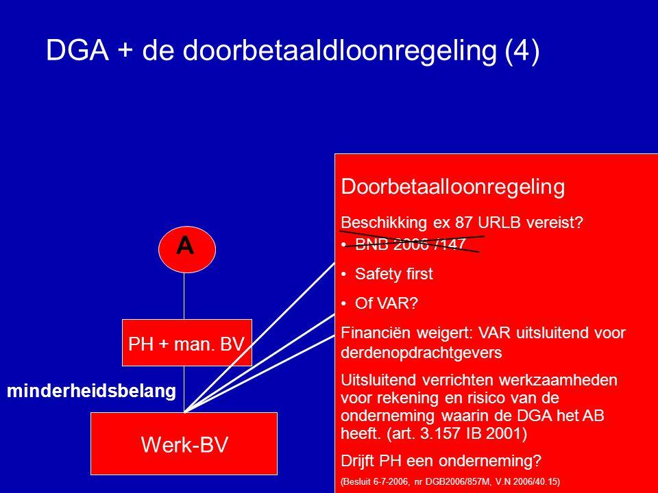 DGA + de doorbetaaldloonregeling (3) A PH + man.