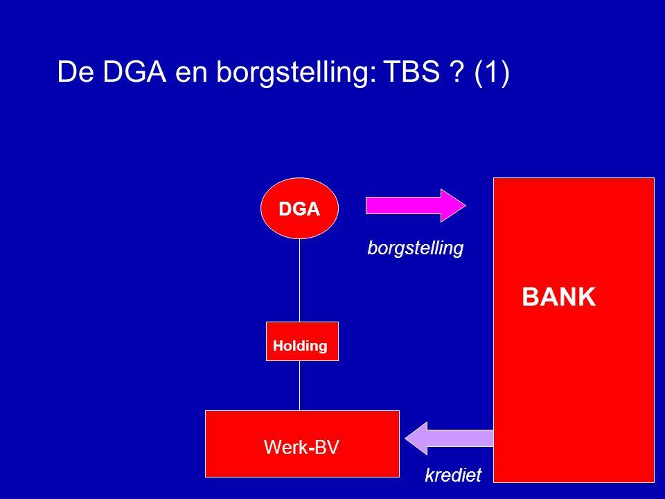 De DGA en borgstelling: TBS? Wanneer wél, wanneer niet?