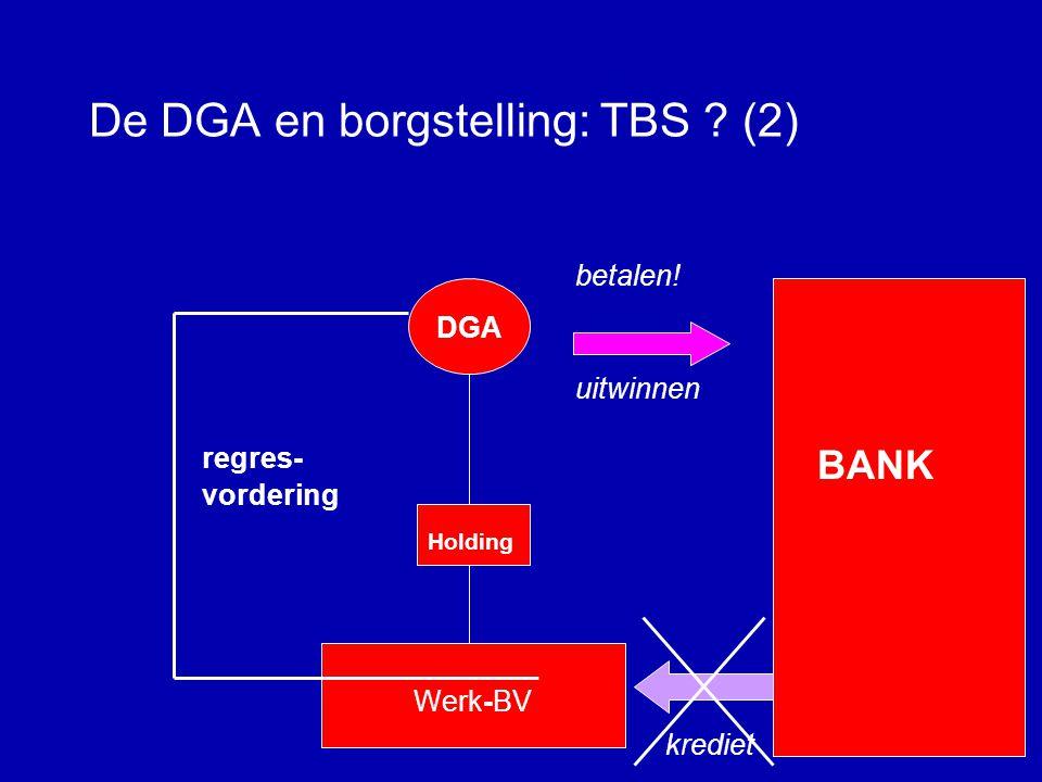 De DGA en borgstelling: TBS ? (1) DGA Holding Werk-BV borgstelling BANK krediet