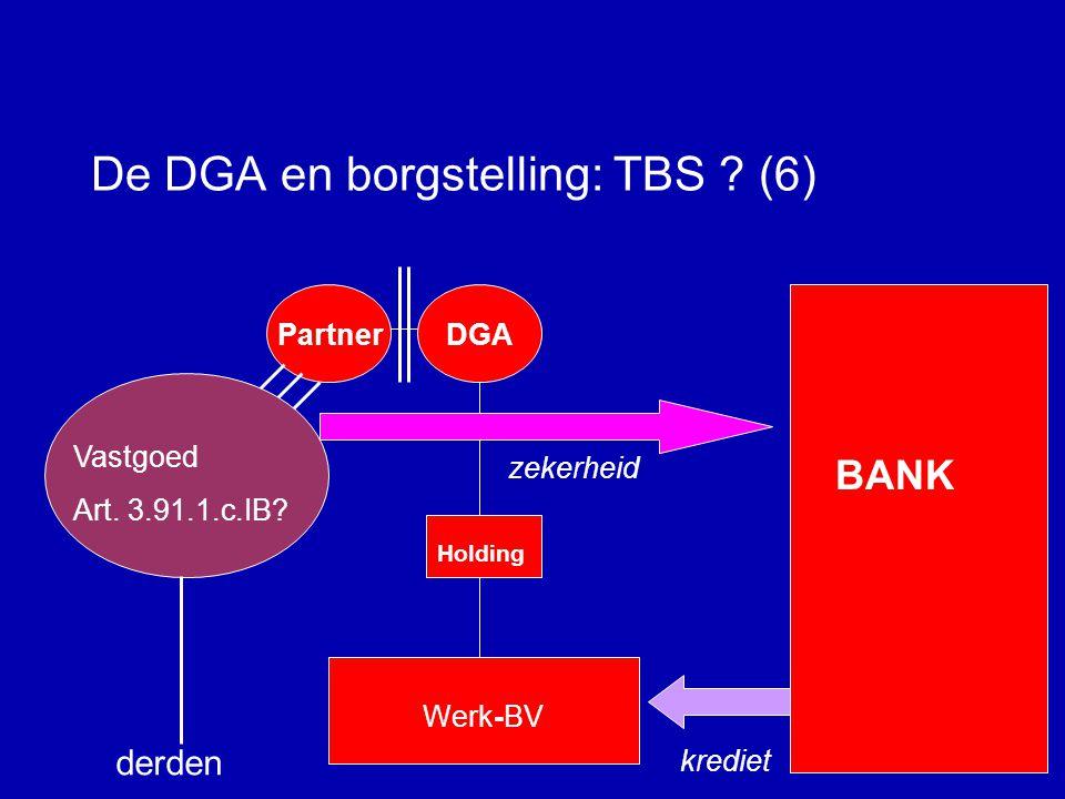 De DGA en borgstelling: TBS .(5) Borgtochtvergoeding voor DGA.