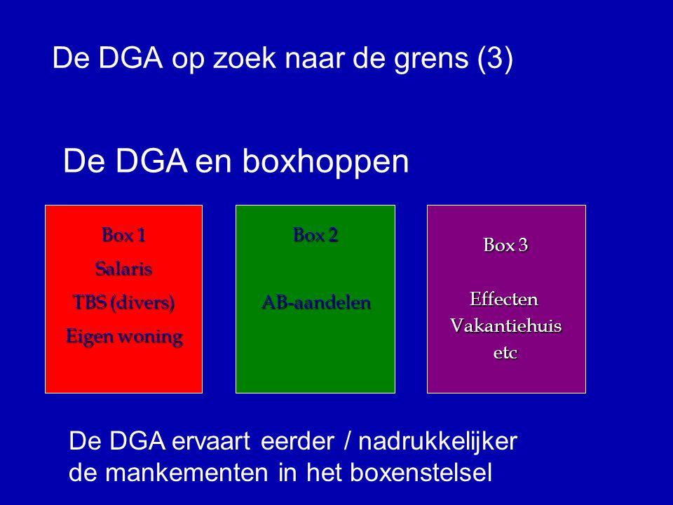 De DGA op zoek naar de grens (2) Verschillende functies t.o.v.