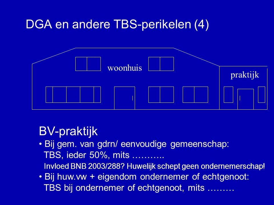 DGA en andere TBS-perikelen (3) woonhuis praktijk IB-praktijk • Gem.