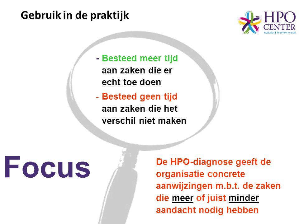 •Nederlandse organisatie (13 afdelingen) •Ruim 350 HPO-vragenlijsten •Strategische data (KPIs) Praktijkcase 2 4 6 8 10 MKOAOLTOCV WK Top 3 Bottom 3