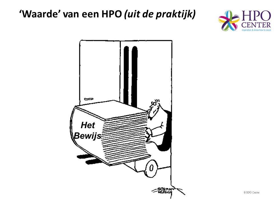 © HPO Center Effect van het HPO-raamwerk tijd Groei Resultaten HPO score Organisaties die met het HPO-raamwerk aan de slag gaan, boeken betere resultaten.