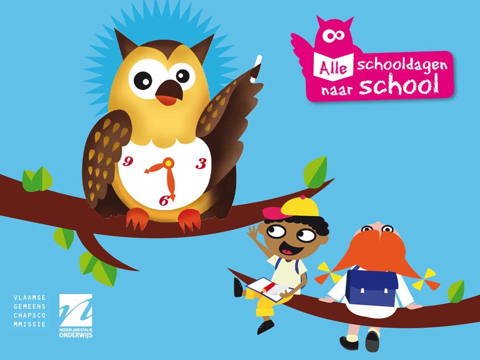 Alle schooldagen naar school •Opstart nieuwe campagne •Centraal doel: leerkansen van kinderen vergroten door maximale participatie aan het onderwijs •Via sensibilisering van de ouders –Kinderen elke dag naar school brengen –Kinderen op tijd naar school brengen –Ook net voor en net na de vakanties
