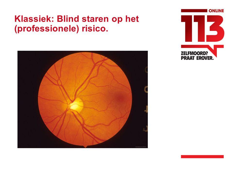 Klassiek: Blind staren op het (professionele) risico.
