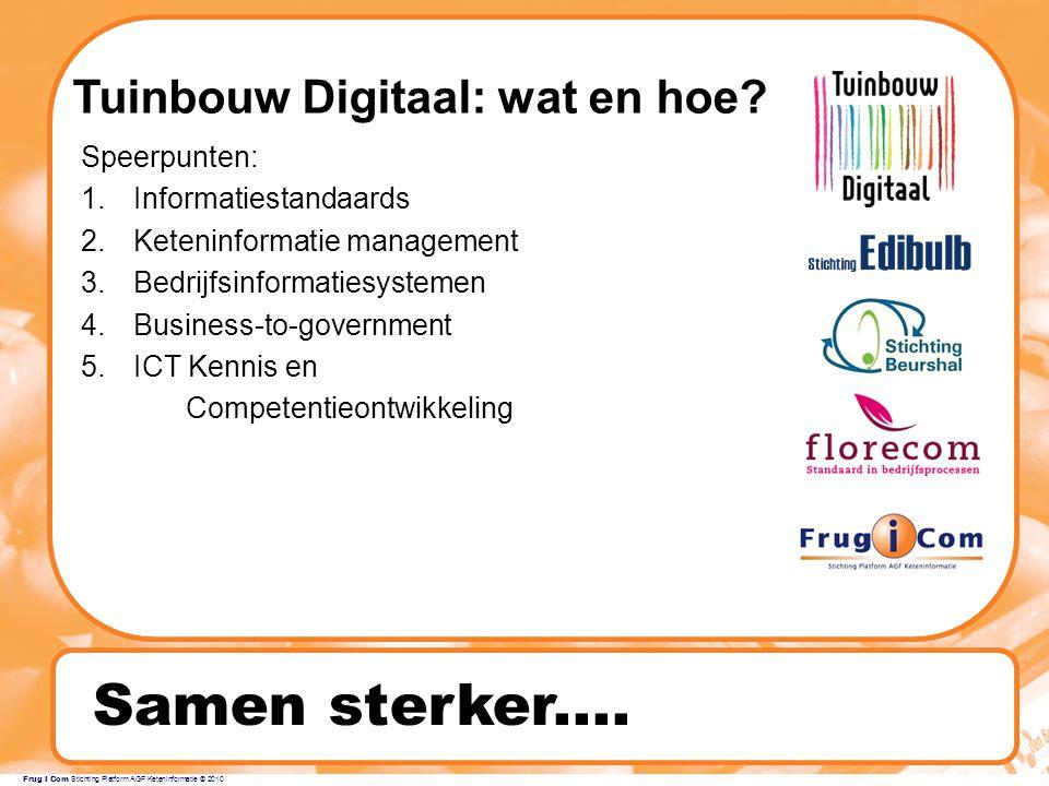 Frug I Com Stichting Platform AGF Keteninformatie © 2010 Samen sterker....