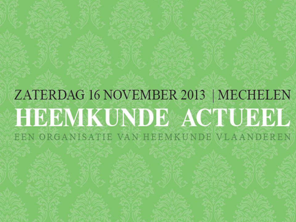 Welkomstwoord door Fons Dierickx (voorzitter Heemkunde Vlaanderen)  Heemkunde Actueel