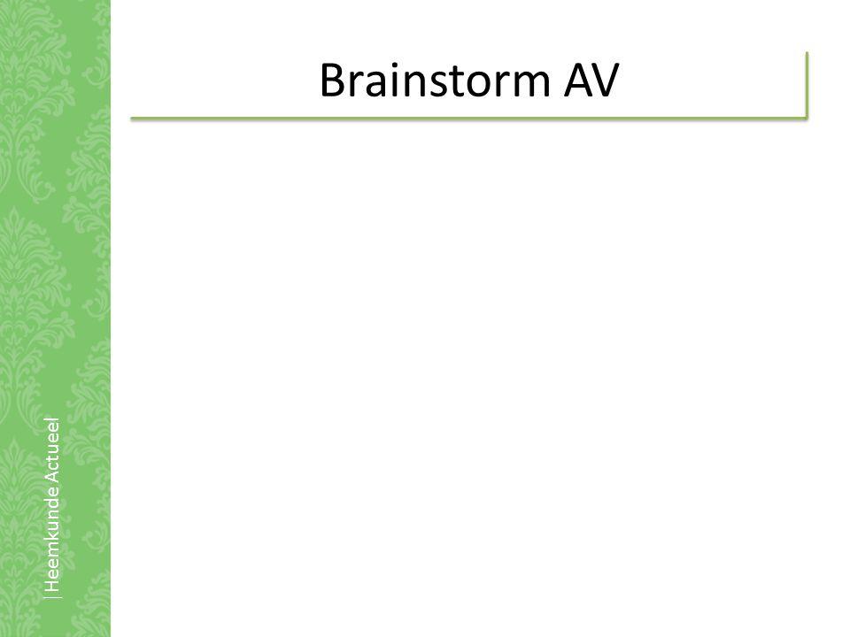 Brainstorm AV |Heemkunde Actueel