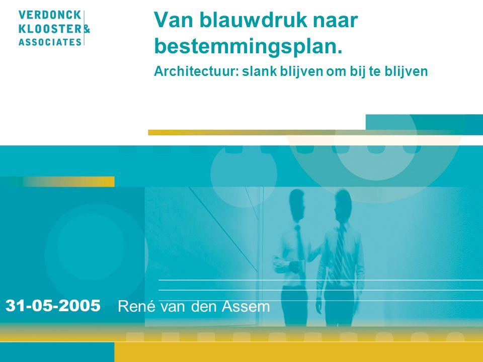 Van blauwdruk naar bestemmingsplan. Architectuur: slank blijven om bij te blijven René van den Assem 31-05-2005