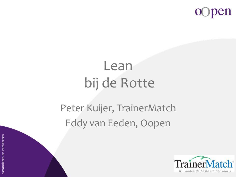 Lean bij de Rotte Peter Kuijer, TrainerMatch Eddy van Eeden, Oopen