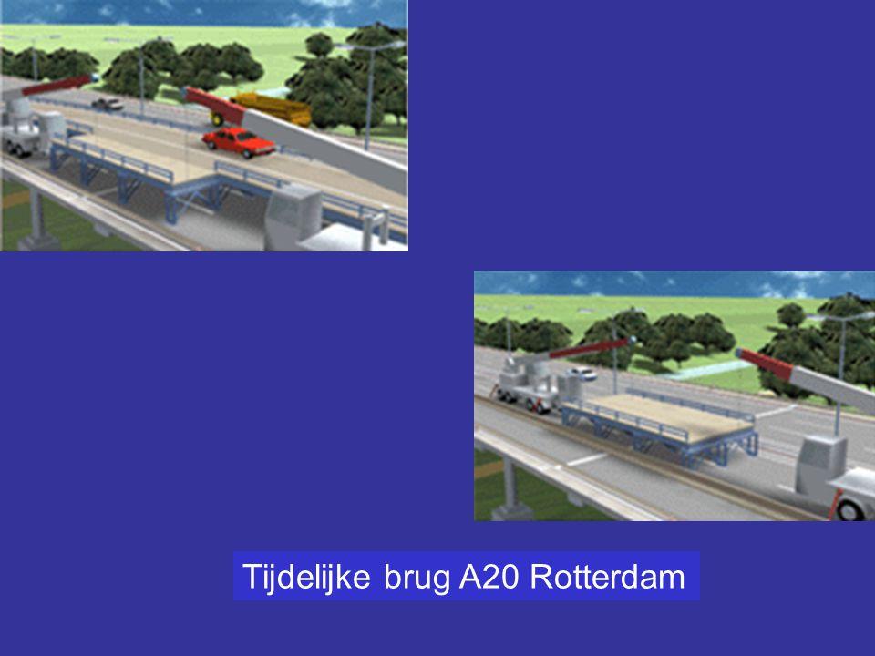 Tijdelijke brug A20 Rotterdam