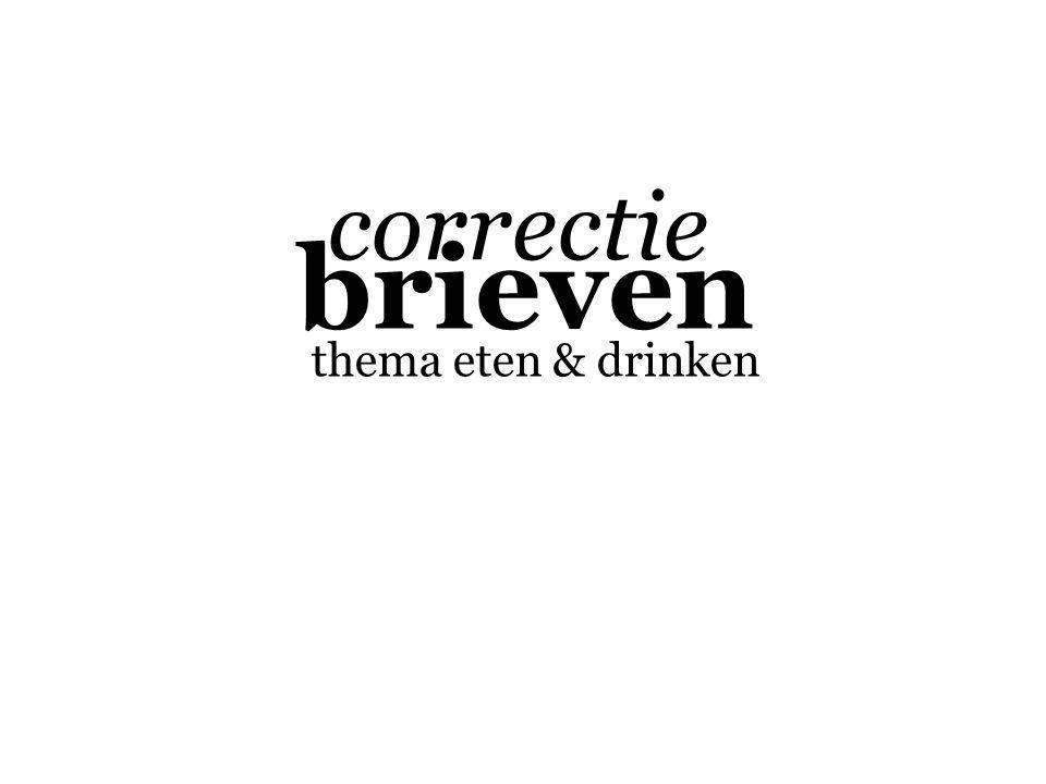 brieven thema eten & drinken correctie