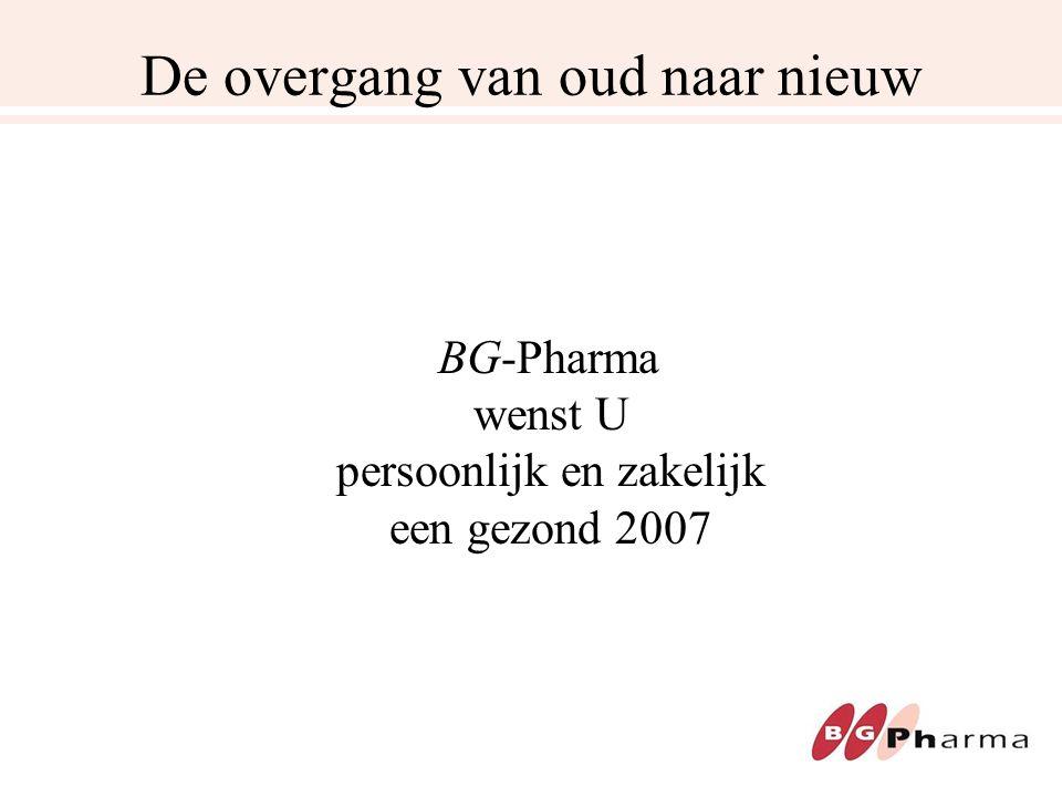 De overgang van oud naar nieuw BG-Pharma wenst U persoonlijk en zakelijk een gezond 2007