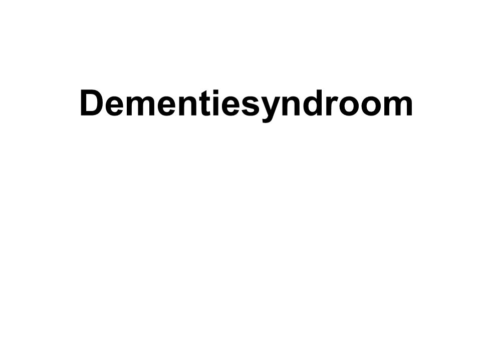 Dementiesyndroom