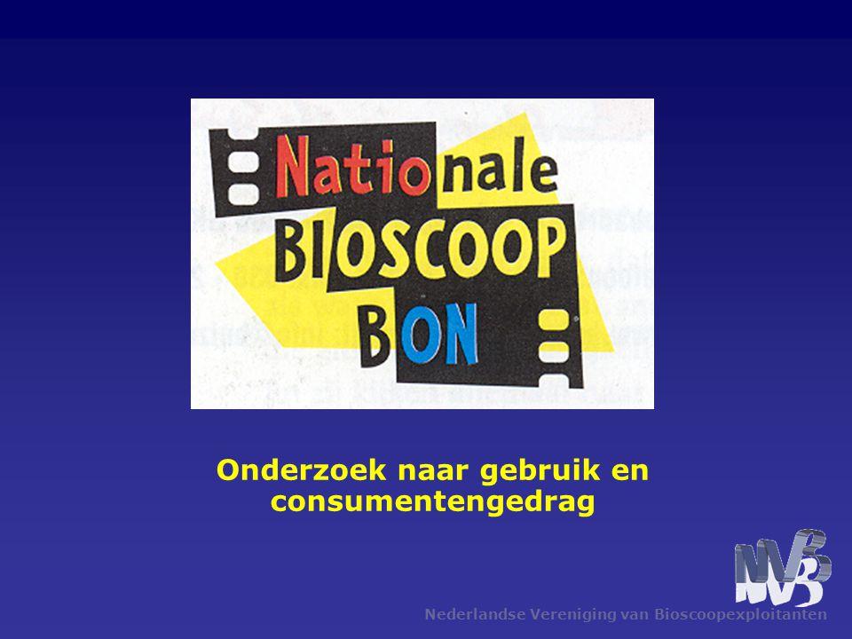 Nederlandse Vereniging van Bioscoopexploitanten Onderzoek naar gebruik en consumentengedrag