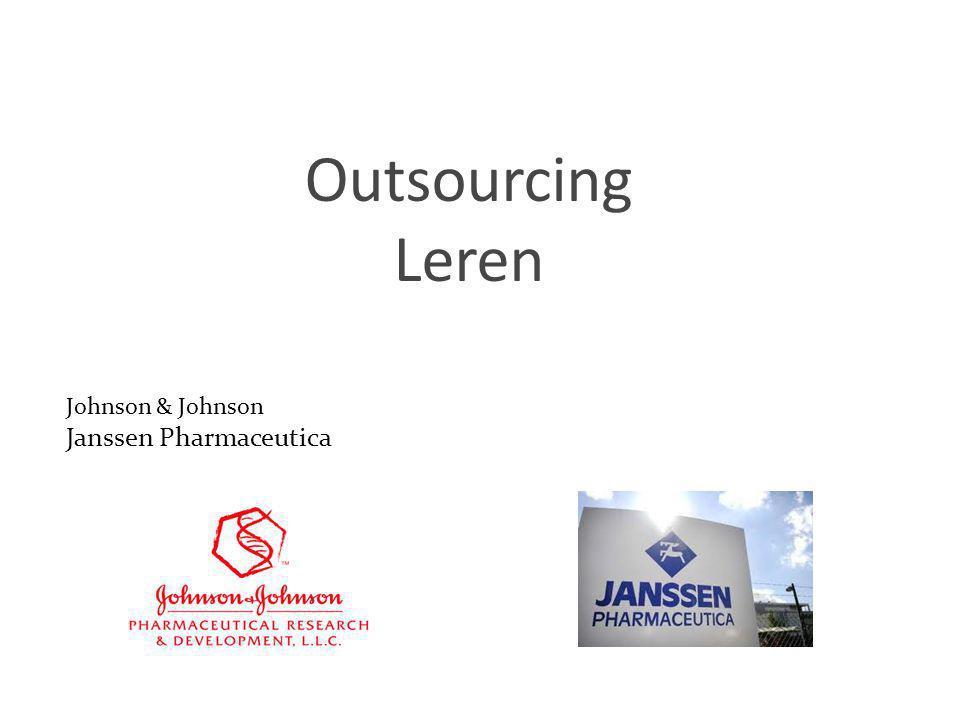 Outsourcing Leren Johnson & Johnson Janssen Pharmaceutica