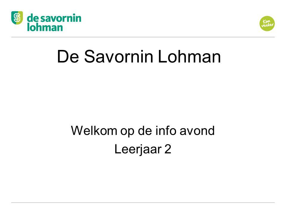 Ov De Savornin Lohman Welkom op de info avond Leerjaar 2
