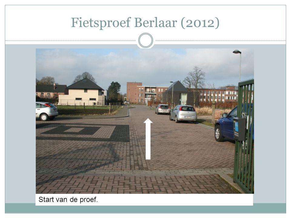 Fietsproef Berlaar (2012) Start van de proef.