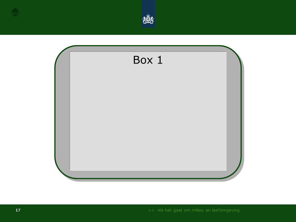 >> Als het gaat om milieu en leefomgeving 16 Gevorderd / Voorbeeld presentatie