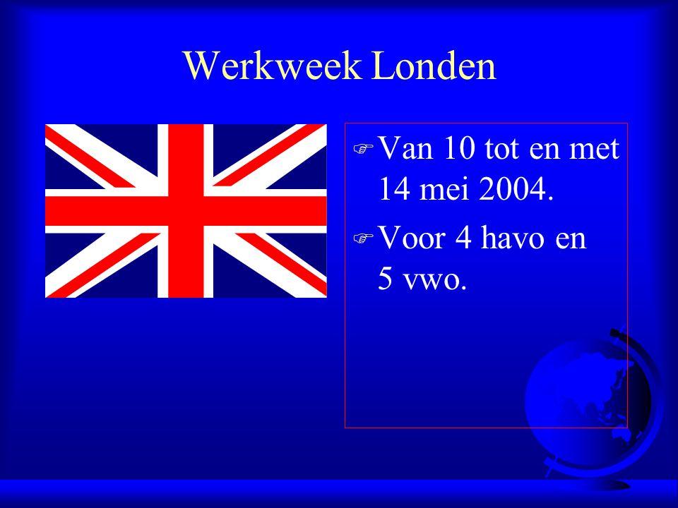 Welkom F Hartelijk welkom op de informatieavond over de studiereis Londen van het Hervormd Lyceum Zuid.