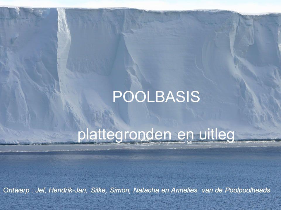 POOLBASIS plattegronden en uitleg Ontwerp : Jef, Hendrik-Jan, Silke, Simon, Natacha en Annelies van de Poolpoolheads