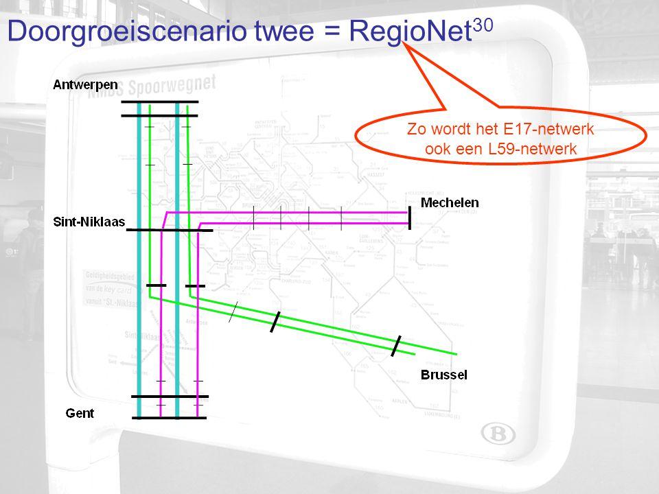 Doorgroeiscenario twee = RegioNet 30 Zo wordt het E17-netwerk ook een L59-netwerk
