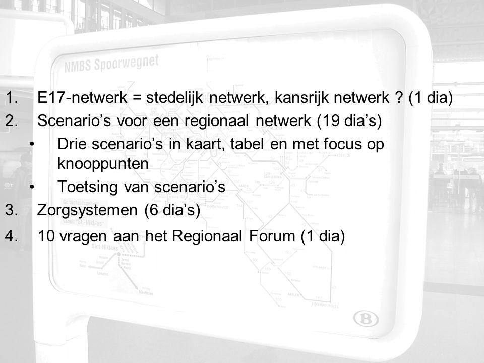 1.E17-netwerk = stedelijk netwerk, kansrijk netwerk .