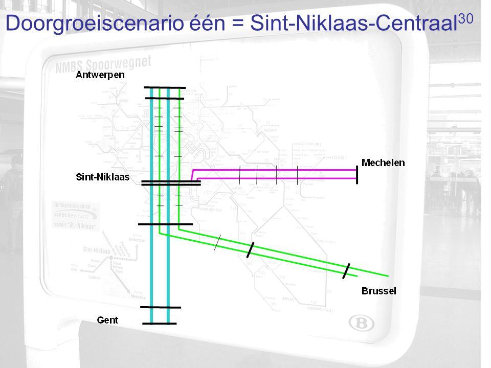 Doorgroeiscenario één = Sint-Niklaas-Centraal 30