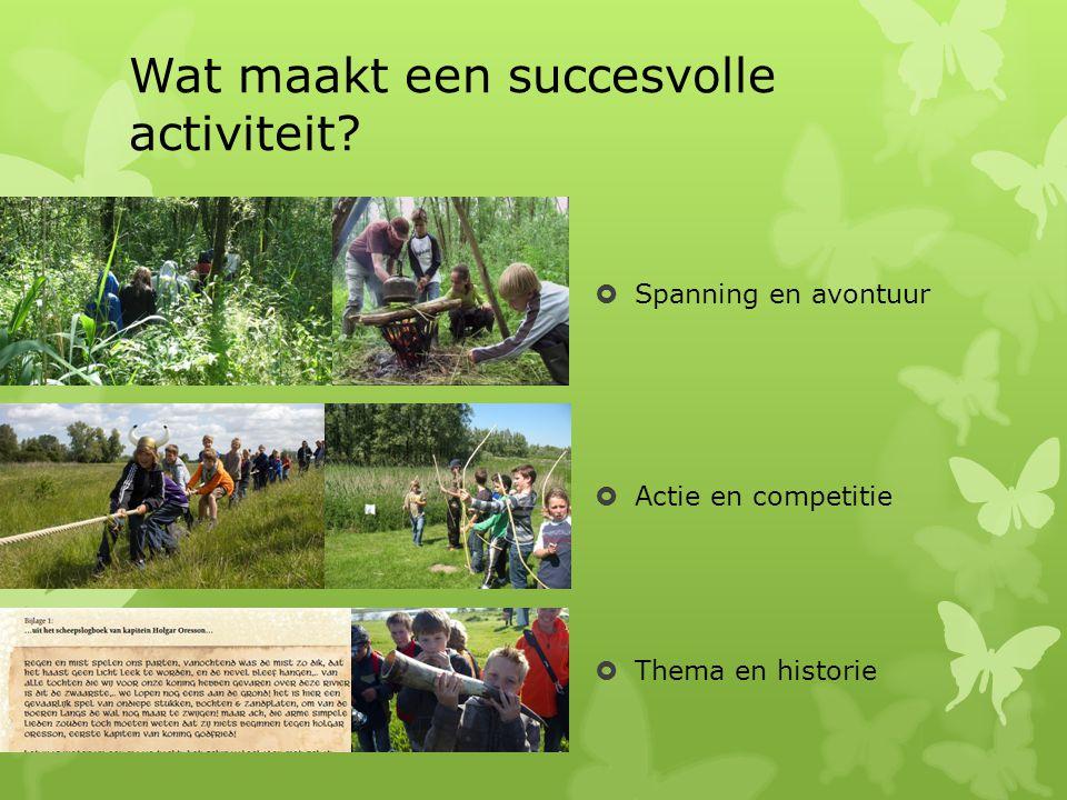 Wat maakt een succesvolle activiteit.