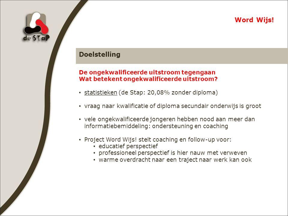 Doelstelling Word Wijs.