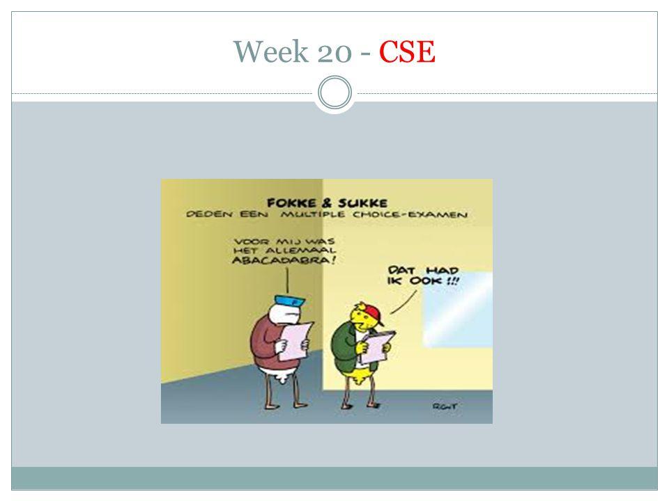 Week 20 - CSE