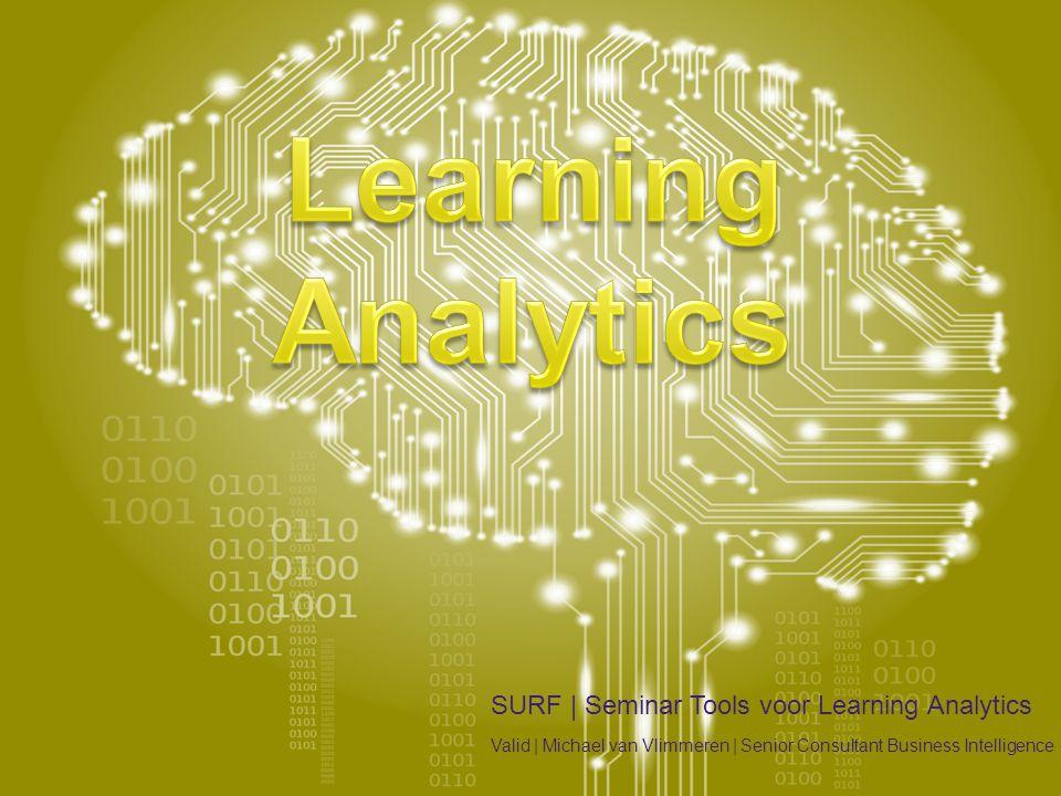 Agenda •Learning Analytics •Definitie •Positionering •Groeipad •Fundament •Data Management •Referenties •TU Eindhoven •Fontys Hogescholen •Zuyd Hogescholen