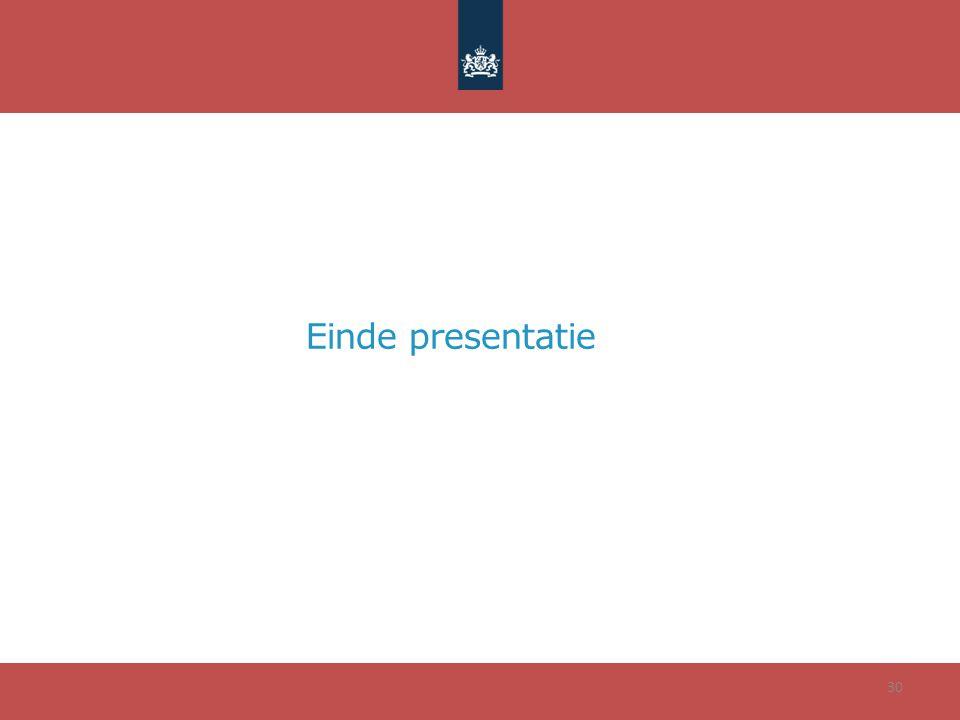 Einde presentatie 30