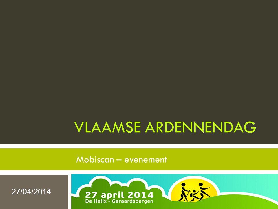 VLAAMSE ARDENNENDAG Mobiscan – evenement 27/04/2014