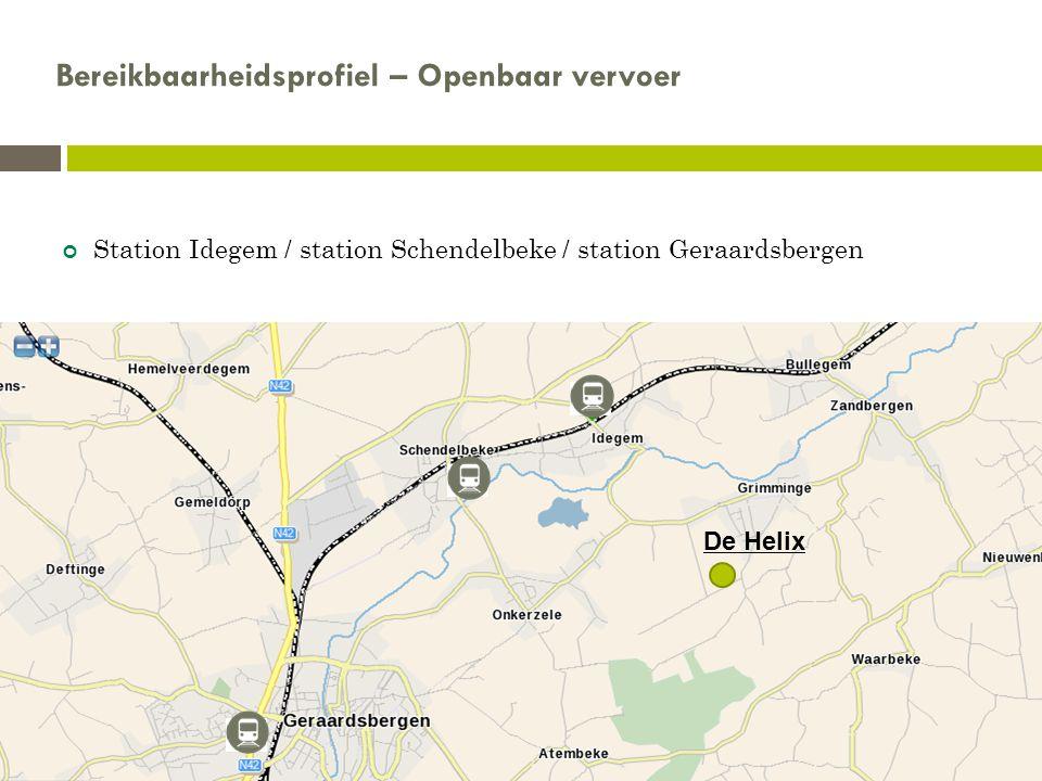 Bereikbaarheidsprofiel – Openbaar vervoer Station Idegem / station Schendelbeke / station Geraardsbergen De Helix
