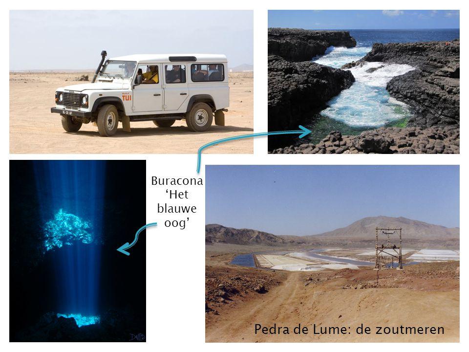 Pedra de Lume: de zoutmeren Buracona 'Het blauwe oog'