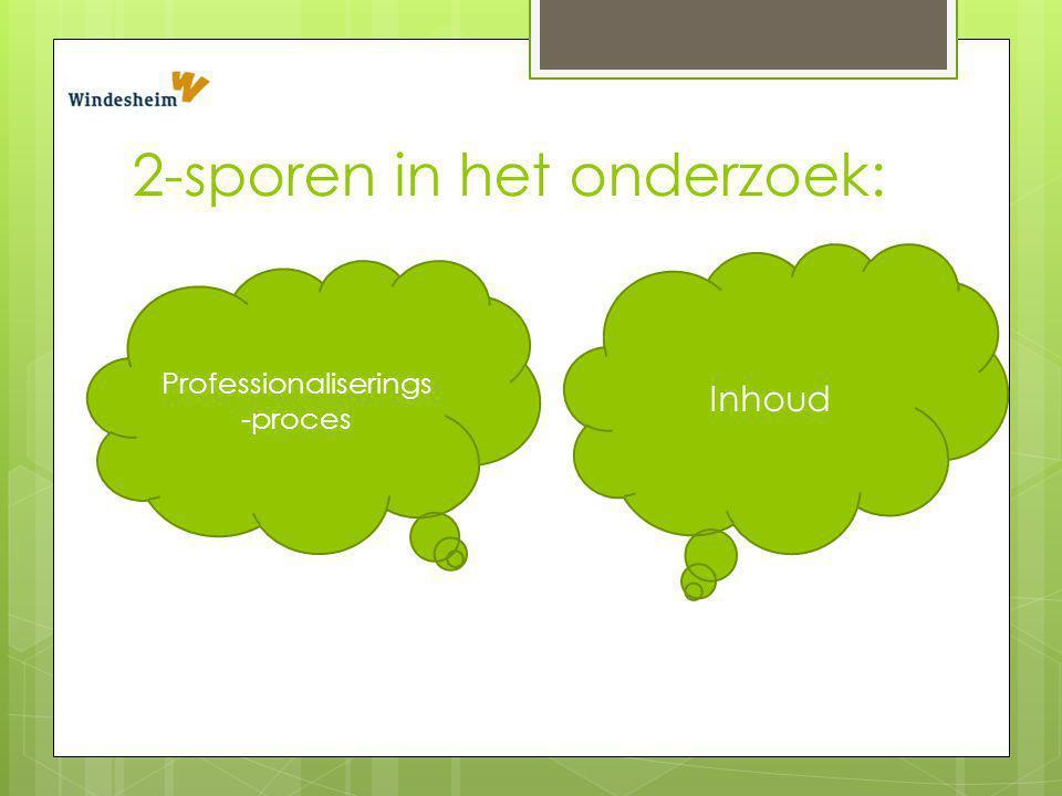 2-sporen in het onderzoek: Inhoud Professionaliserings -proces