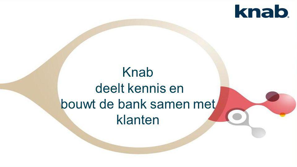 Knab deelt kennis en bouwt de bank samen met klanten
