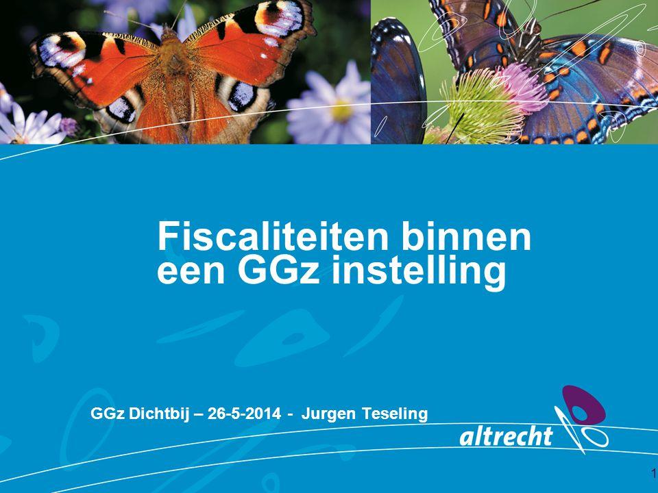 Fiscaliteiten binnen een GGz instelling GGz Dichtbij – 26-5-2014 - Jurgen Teseling 1
