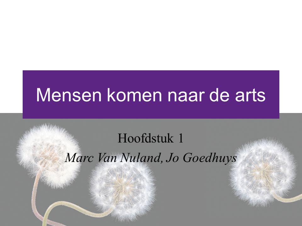 Mensen komen naar de arts Hoofdstuk 1 Marc Van Nuland, Jo Goedhuys