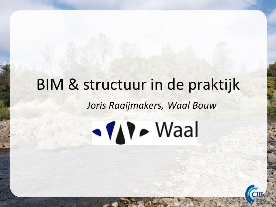 BIM & structuur in de praktijk Joris Raaijmakers, Waal Bouw