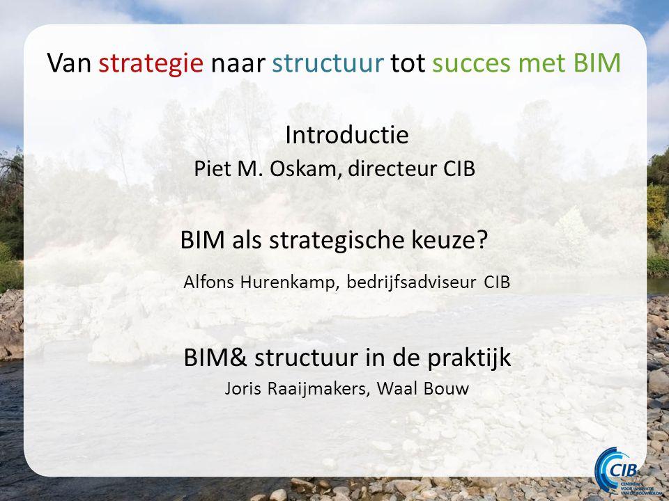 Van strategie naar structuur tot succes met BIM Introductie Piet M.