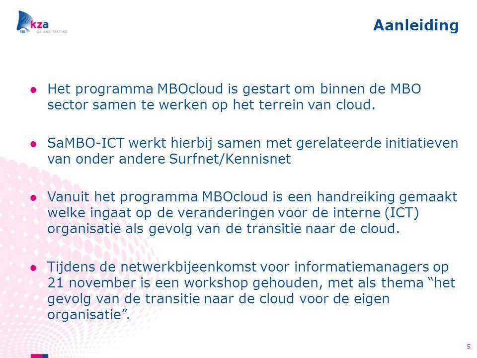 ●Het programma MBOcloud is gestart om binnen de MBO sector samen te werken op het terrein van cloud. ●SaMBO-ICT werkt hierbij samen met gerelateerde i