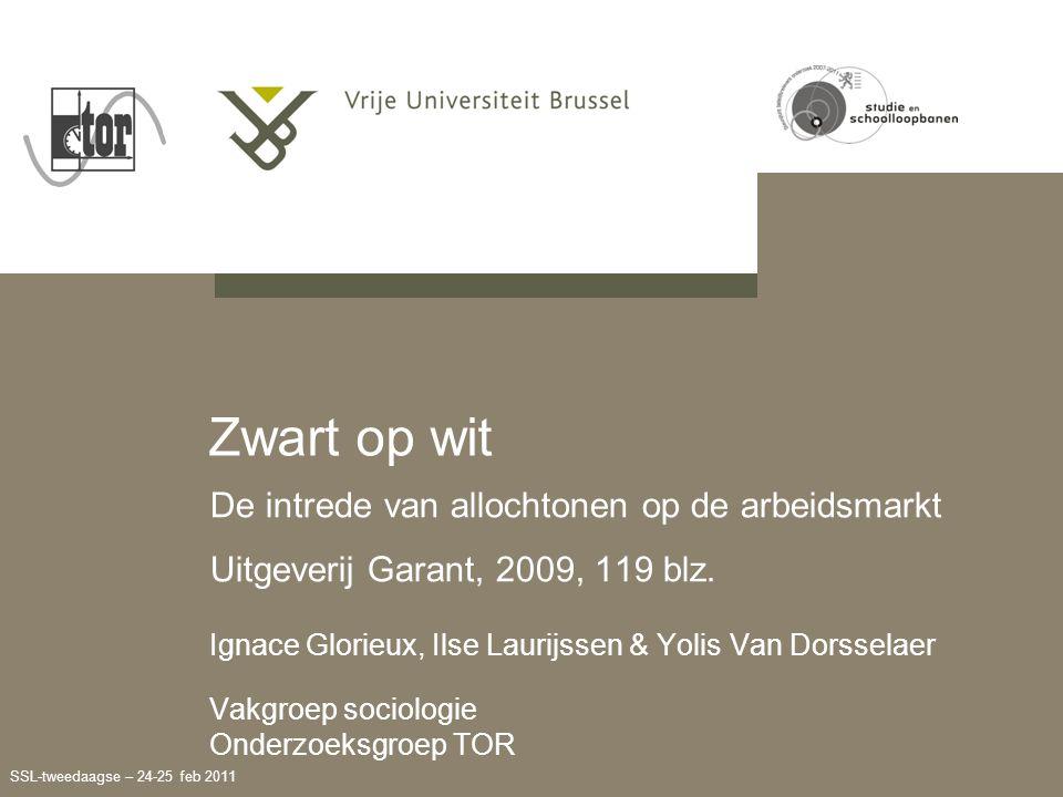 SSL-tweedaagse – 24-25 feb 2011 De intrede van allochtonen op de arbeidsmarkt Uitgeverij Garant, 2009, 119 blz.